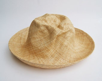 Wide brim straw hat , Handmade straw hat ,  Fedora straw hat for women, straw hat for men, Summer hats , Sun Hat , Beach hat
