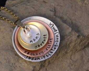 custom name jewelry, nana, mimi, grandmother, mom jewelry pendant
