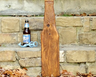 Giant Beer Bottle - Wood Beer Bottle - Beer Wall Art