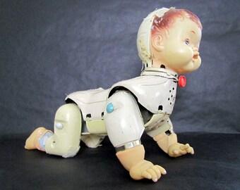 ROSKO Vintage Crawl Doll Call Me Baby 1960's