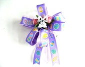 Easter gift bow, Easter bunny bow, Bow for Easter baskets , Easter decoration, Easter holiday bow, Gift wrap bow, Bow for Easter decor (E54)