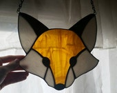 Fox Stained Glass Sun Catcher (Made to Order)
