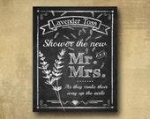 Lavender Toss Wedding Send off signage - Wedding sign - PRINTED chalkboard wedding signage - optional add ons - Rustic Heart Line