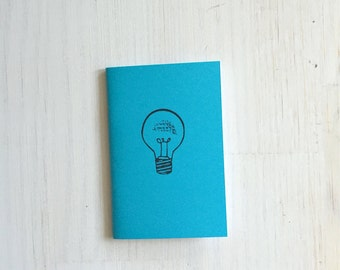 Small Notebook: Lightbulb, Idea, Blue, Inspire, Bright, Fun, Hipster, Favor, Unique, Inspiration Notebook, Gift, Journal, Notebook, RRR197