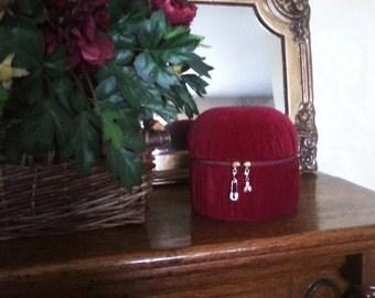 Burgundy Velvet Box