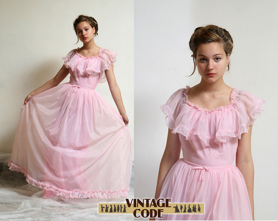 Pink Wedding Gown: Pink Southern Belle Dress / Pink Wedding / Prom By Vintagecode