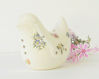 Vintage Cottage Style Floral Love Bird Pomander, Wedding, Collectible, Made in Japan