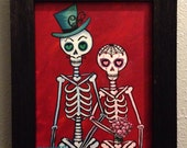 la Boda III...Dia de los Muertos skeleton couple painting