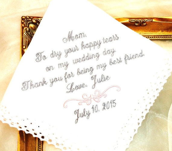 Best Gift For Friend S Wedding: Mother Of The Bride Handkerchief MOB Thank You By MisterandMrs