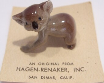 Hagen-Renaker Koala Figurine on Original Card
