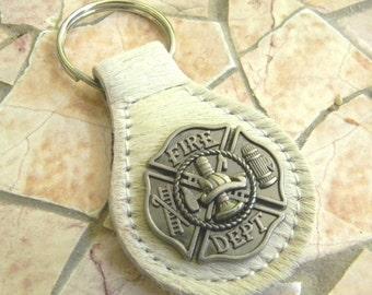 Firefighter Keychain, Fireman Key Fob, Key Ring, Key Chain, Firefighter Gifts, Firefighter Girlfriend, Firefighter Wife, Groomsmen Gift