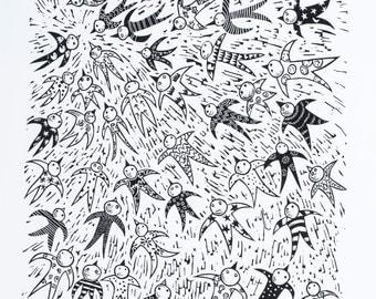 Lots of birds in Pyjamas