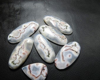 Solar Quartz Cabochon 100% Natural 7 Piece Lot Gorgeous Good Quality Oval Shape  Size 21X32 mm To 22X50, 20X46 mm Approx