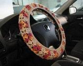 Crochet Steering Wheel Cover, Wheel Cozy - buff/marrakesh (CSWC 8S)