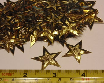 14 LARGE star confetti / sequins, 31 mm (10)