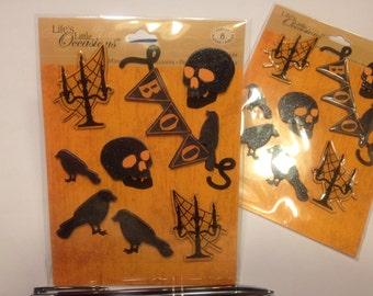 8 piece Halloween  scrap booking sticker set, 25-85 mm (HR32)