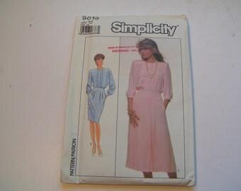 Vintage Simplicity Pattern 9015 Miss Dress Size 12