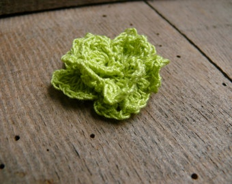 Crochet cotton Rose, Crochet flowers brooch pin, Birthday gift, cotton Flower Brooch Pin, crochet accessory, rosette flower, corsage
