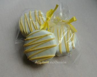 White Chocolate and Yellow Dipped Oreo Cookies
