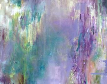Modern Art Print-- Archival Print of Original Painting--Wisteria Spring (Part 1)