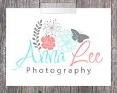 Summer Flowers Premade Business Logo Design - Photography Logo - Business Logo - Photography Watermark - Signature Watermark Logo