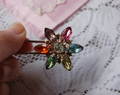 Reserved listing...vintage shiney rhinestone pin Floral rhinestone pin