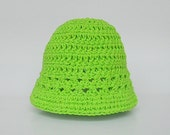 Newborn Green Hat Infant  Girl  Spring Cotton  Cap 0 To 3  Months Baby Boy Summer Pastel  Lime Beanie