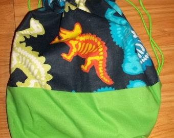 Dinosaurs Winnie the Pooh & Friends Pokemon White Blue Green Yellow Cream Girls Boys Toddlers Seasons Backpack Cinch Sak