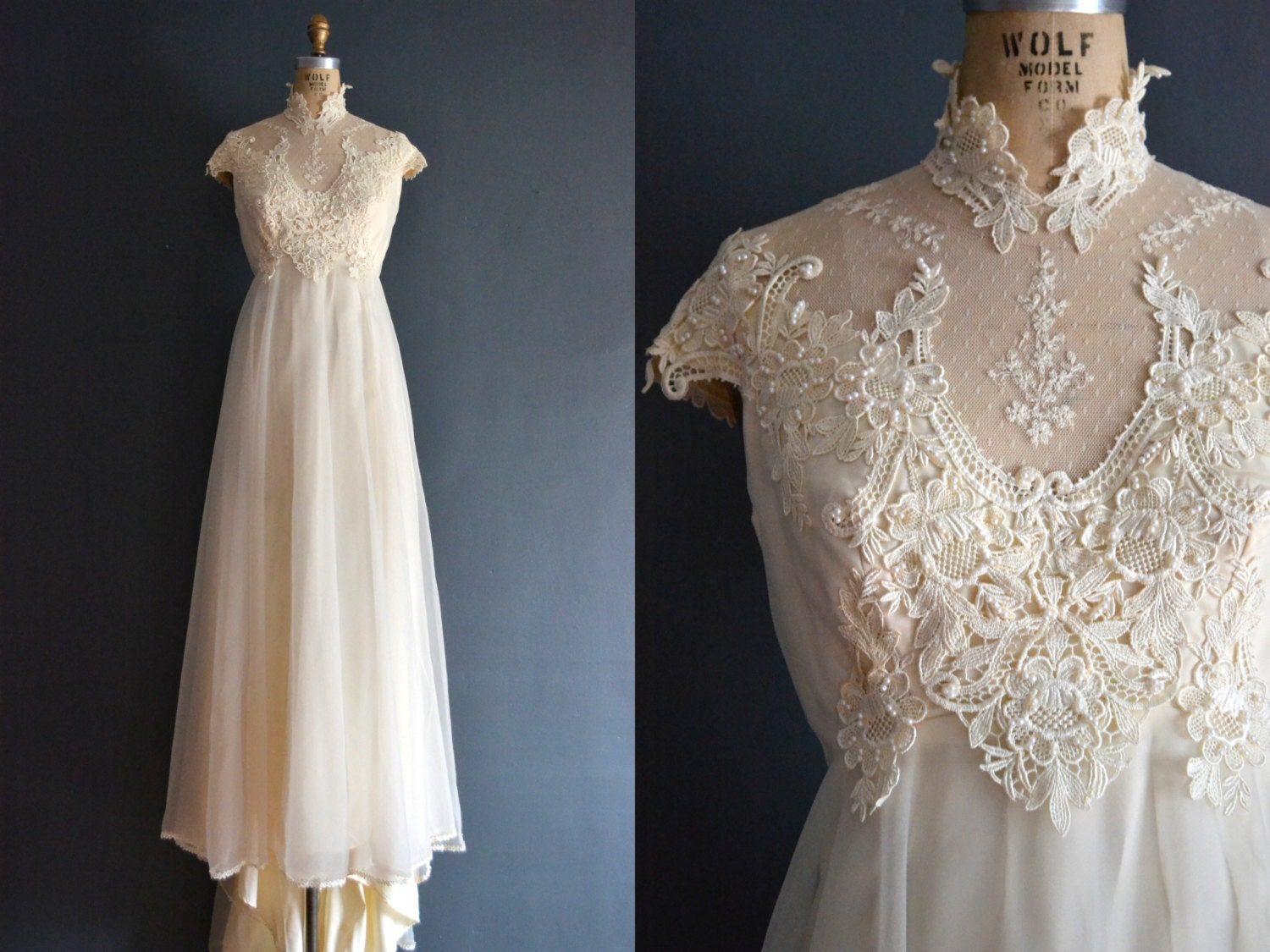 Marlene 70s wedding dress 1970s wedding dress for 1970 s style wedding dresses