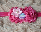 "SALE! Pink ""My First Mother's Day"" Headband, Baby Girl Headband, Newborn Headband, Photo Prop, Mother's Day Headband"