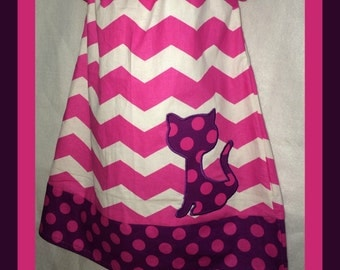 Pink and Purple Chevron Peasant Dress