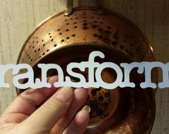Scrapbooking Die cut word art typography - transform