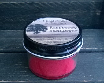 Raspberry Sunflower Scented Candle 4 oz. Jar