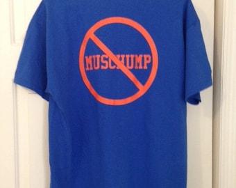 Auburn Tigers Shirt, Dump Muschump, Muschamp Blue with Orange Font
