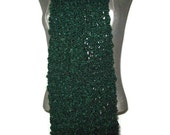 Forest Green Scarf - Hand knit - Soft - Long - Winter - Women - Mens