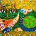 Cat Art, Cat Decor, Whimsical Cat Print, Yellow And Green, Children's Wall Art, Art For Kids, Animal Art, Patchwork Cat by Paula DiLeo_13115