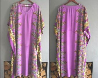Soft Purple Indian Kaftan Dress