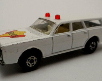 Vintage Matchbox Mercury Police car, 1971, Lesney, No. 55