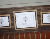 Picture Frame - Distressed Wood - Double Mats - Holds 1-8x10 & 2-5x7 Photos - All Horizontal - Chocolate Brown and Burlap