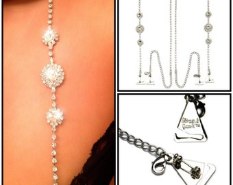 STYLISH Princess Style Austrian Crystal Dress Straps with Metal Pin Hooks for Bra and Dress - Strapless Support Chic Strap