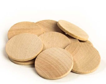 Package of 100 Round Disc Unfinished Wood Cutouts - Ready to Be Painted and Decorated