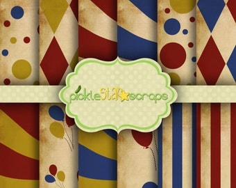 Carnival4 Craft Papers Circus Papers Circus Printable Circus Backgrounds Circus Party Carnival Papers Carnival Party INSTANT DOWNLOAD