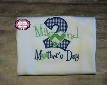 My Second Mothers Day Bodysuit or Tshirt with Name