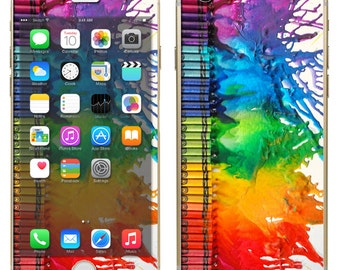 iPhone 6 ~or~ iPhone 6 Plus + : Melting Crayons Colorful Melted - Free Shipping - NOT a HARD case