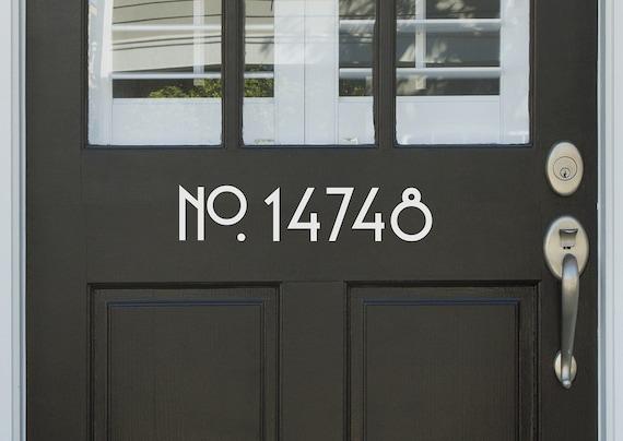 Vinyl Craftsman Style House Door or Wall Numbers Sans Serif