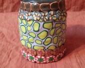 stout mosaiced cork top jar