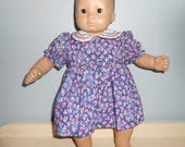 American girl 15 inch or 16 inch Bitty Baby or Bitty Twin periwinkle blue and pink print dress by Projectt Funway on Etsy