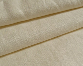 Cream Colour Washed 100% Linen Heavy Weight Fabric 260gsm 140cm wide - Sold by the metre (L4)