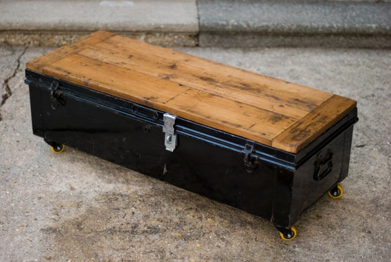 Upcycled Steamer Trunk Coffee Table Blanket By Creaturesofthesea