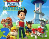 Paw Patrol  Invitation Digital File 4X6 or 5X7